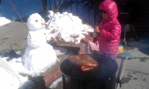 BBQ Snowman